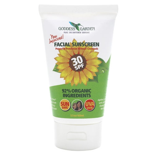 Facial Natural Sunscreen Spf 30 By Goddess Garden Organiworks